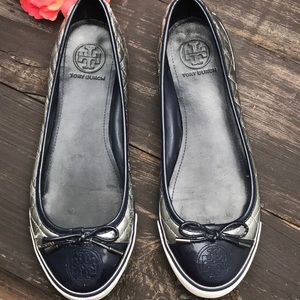 Tory Burch Shoes - Tory Burch Skylar Quilted Ballet Sneaker Size 8.5